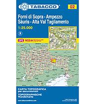 Tabacco N° 02 Forni di Sopra-Ampezzo-Sauris-Alta Val Tagliamento (1:25.000), 1:25.000