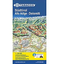 Tabacco Alto Adige-Dolomiti 1:160.000 carta panoramica stradale, 1: 160.000