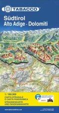 Attrezzatura > Carte topografiche / libri > Cartine Tabacco >  Tabacco Südtirol-Alto Adige-Dolomiti 1:160.000