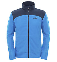 The North Face 100 Glacier Full Zip giacca in pile uomo, Bomber Blue/Cosmic Blue