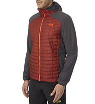 The North Face Thermoball Micro Hybrid Hoodie, Rosewood Red/Asphalt Grey