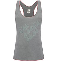 The North Face W Play Hard Tank Top fitness donna, Grey