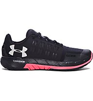 Under Armour Charged Core W - scarpe da ginnastica donna, Black/Salmon