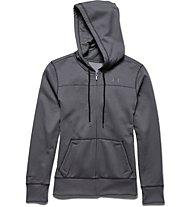 Under Armour Hoody FZ Fleece Big Logo felpa con cappuccio donna, Carbon Heather