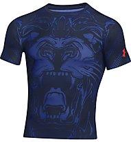 Under Armour Beast Lion Trainingsshirt, Navy/Dark Orange