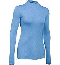 Under Armour UA ColdGear Armour Mock-Shirt Damen, Light blue