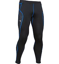 Under Armour UA Coldgear Infrared Run Tight pantaloni running, Black/Blue Jet/Reflective