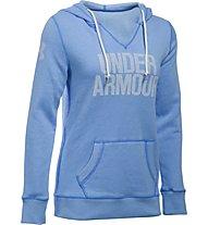 Under Armour UA Favorite Fleece Word Mark Popover Felpa con cappuccio fitness donna, Light Blue