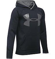 Under Armour UA Storm Armour Fleece Highlight Big Logo felpa con cappuccio fitness ragazzo, Black