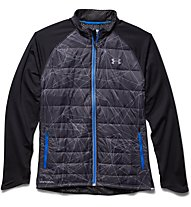 Under Armour Coldgear Storm Run Softshell - Laufjacke, Black/Red/Steel