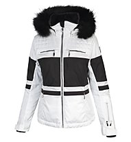 Vuarnet M-L Bollene Lady Damen-Skijacke mit Waschbär-Pelz, White Sail/Black/Black