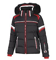 Vuarnet Giacca sci M-L Shelley Jacket Man, Black/Red/White Sail