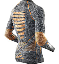 X-Bionic Energy Accumulator Evo Melange Shirt Long Sleeves Roundneck langärmliges Funktionsshirt, Grey Melange/Orange