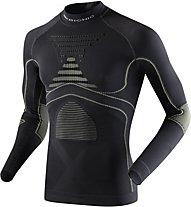 X-Bionic Energy Accumulator Evo Shirt Long Sleeves Turtle Neck, Charcoal/Yellow