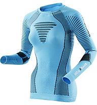 X-Bionic Effektor Powershirt - maglia running donna, Turquoise/Anthracite
