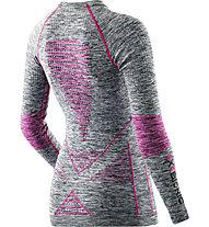 X-Bionic Shirt funzionale manica lunga Lady Energy Accumulator Evo Melange Shirt Long Sleeves Roundneck, Grey Melange/Raspberry