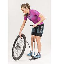 X-Bionic Twyce Bike Shirt Short Woman Damen-Radtrikot, Violet/Turquoise